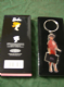 Barbie metal keyring in red outfit..